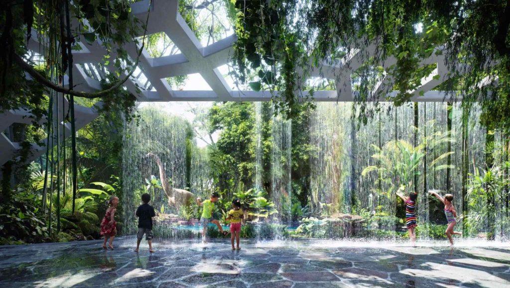 rainforest hotel walkway