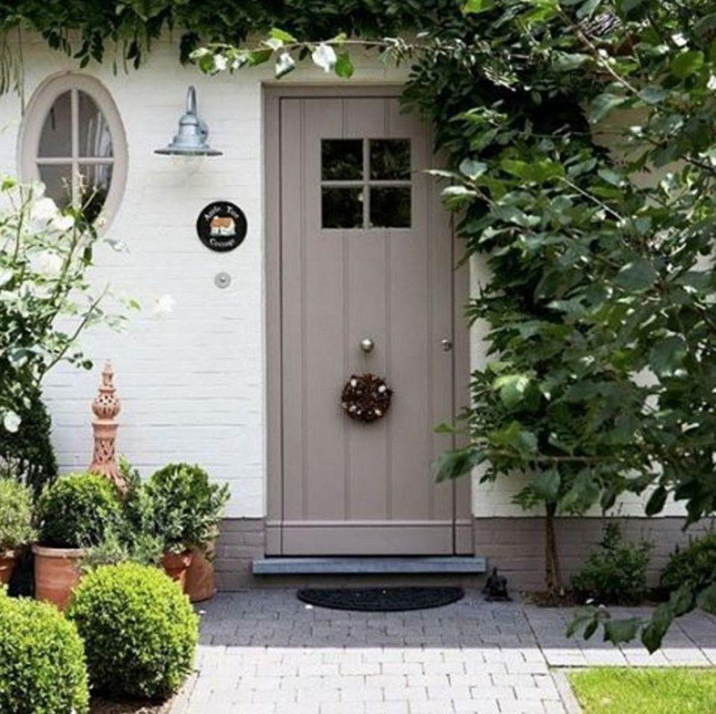 taupe door