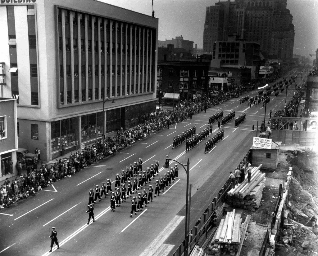 vancouver 1950s burrard street