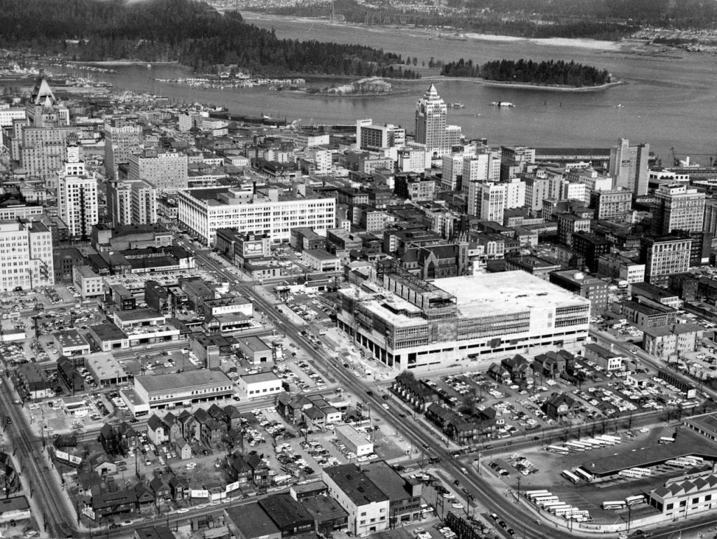 vancouver 1950s downtown