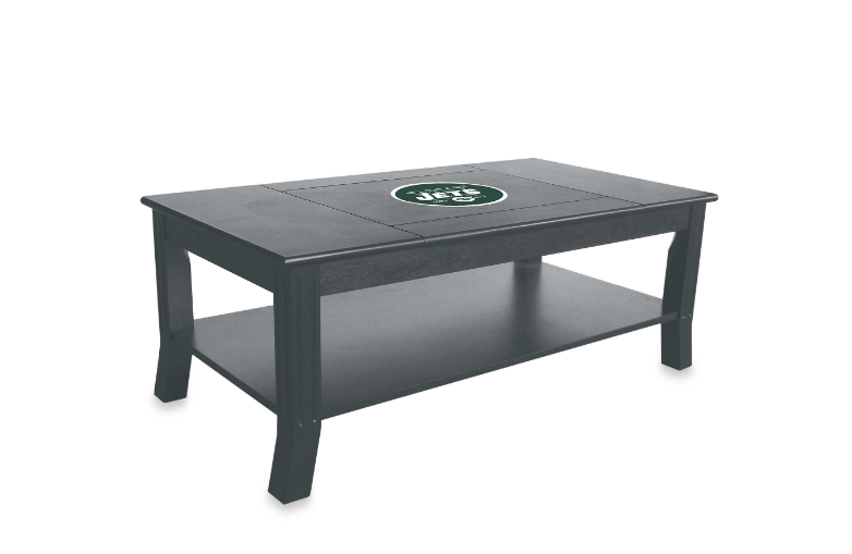 NFL Jets logo coffeetable