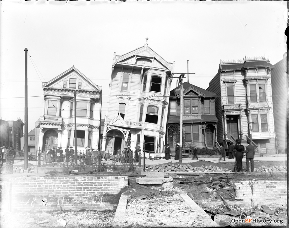 SF earthquake drunken houses