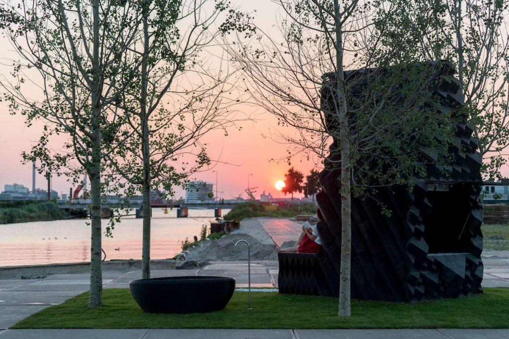 amsterdam cabin sunset