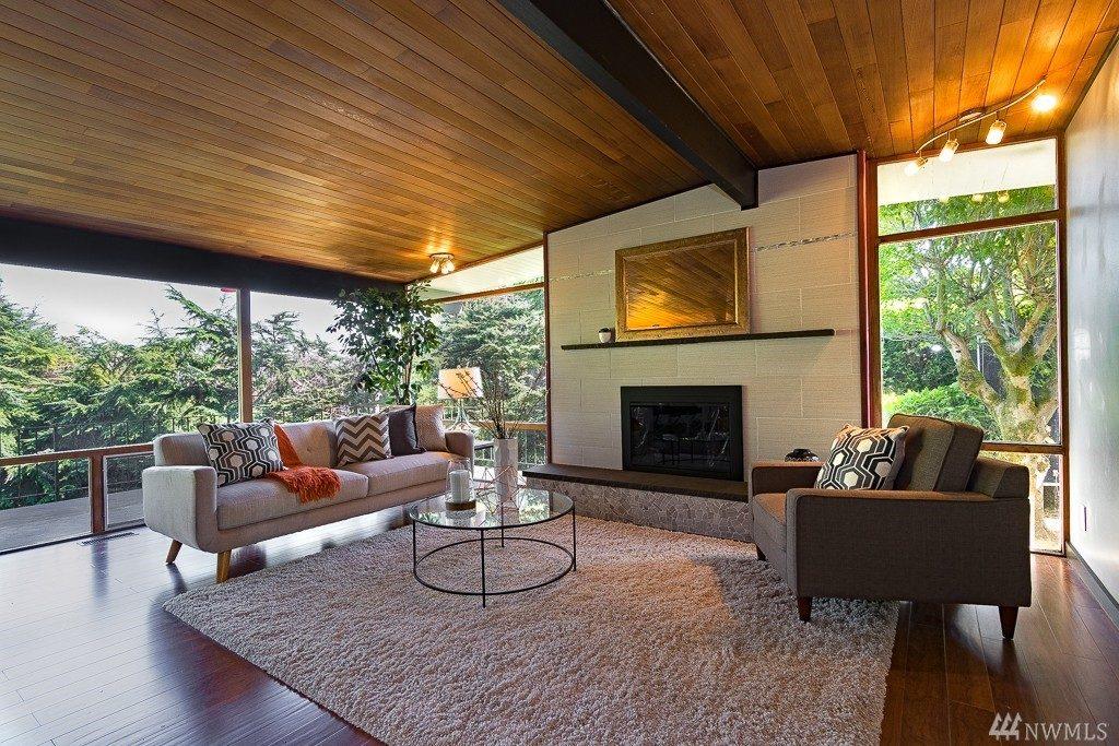 mid-century modern interior
