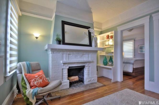 SF tiny house fireplace