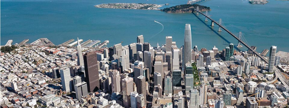 salesforce tower aerial
