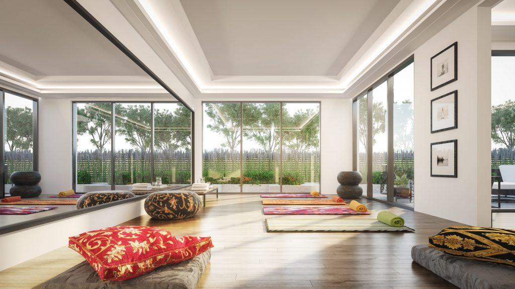 avenue + park yoga room