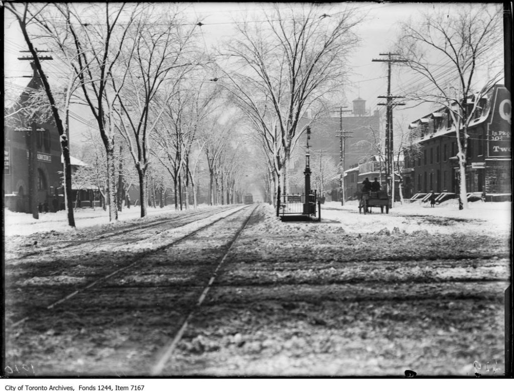 Spadina Avenue, looking south from Queen Street. - Febraury, 1914