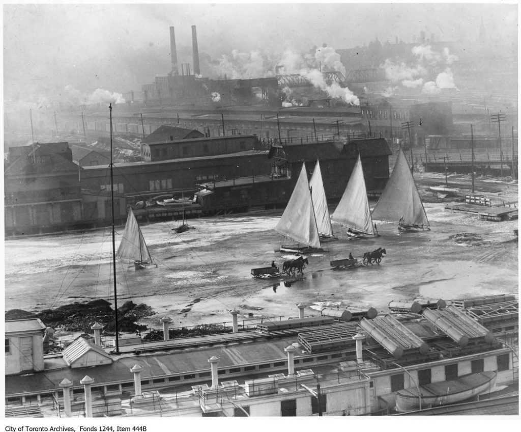 Toronto Bay at Cherry Street. - [ca. 1920]