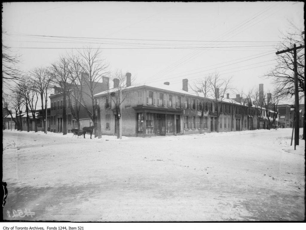 Northwest corner of Bay and Albert streets. - [between 1908 and 1912]