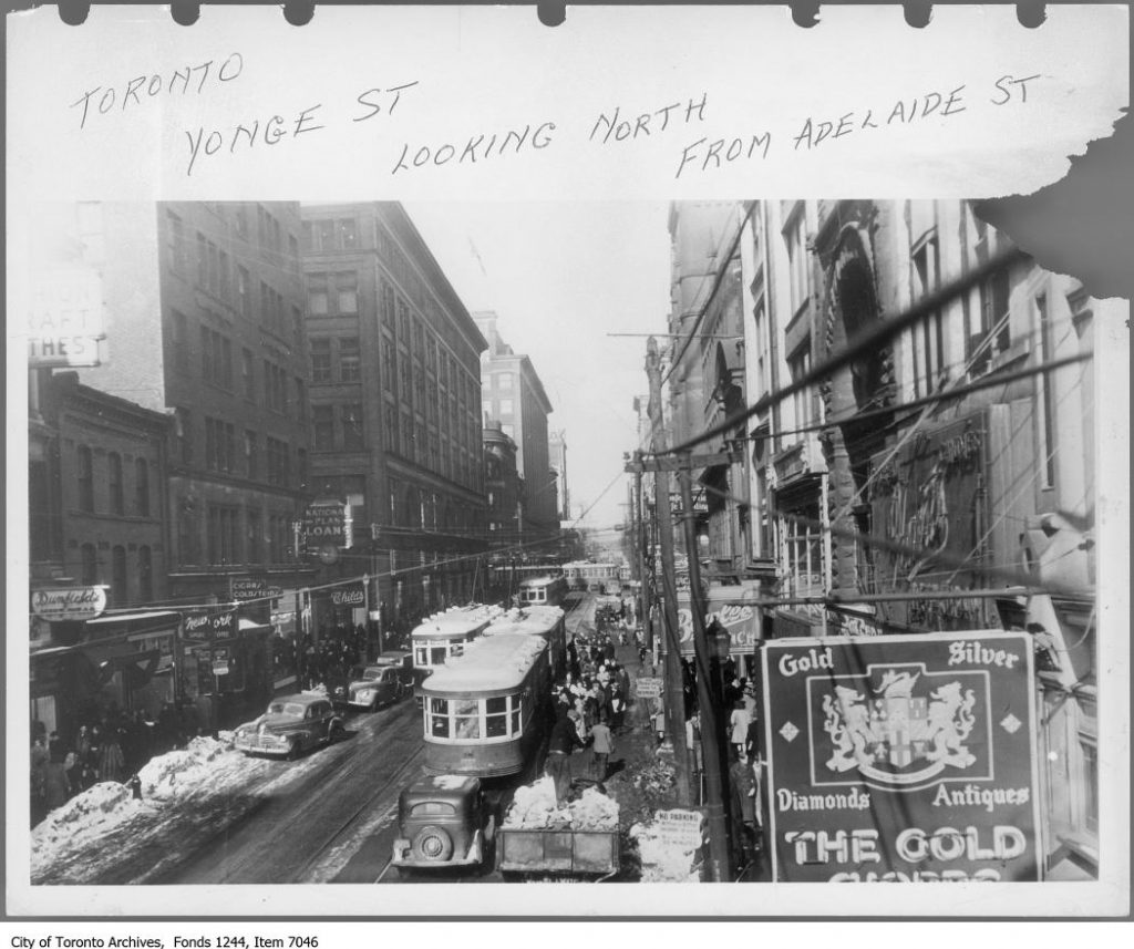 *** Local Caption *** Item consists of one photograph. A note by TTC Archivist Ted Wickson says it was taken by the TTC to show the result of snow storms.