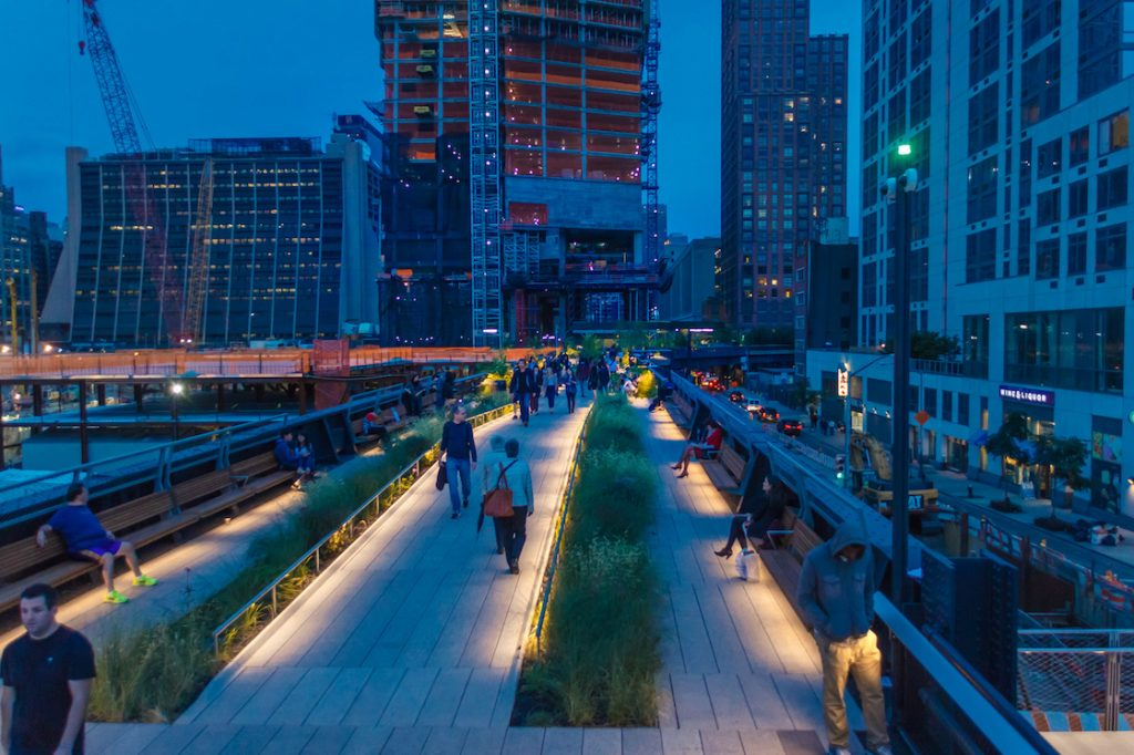 Manhattan NYC midtown west highline