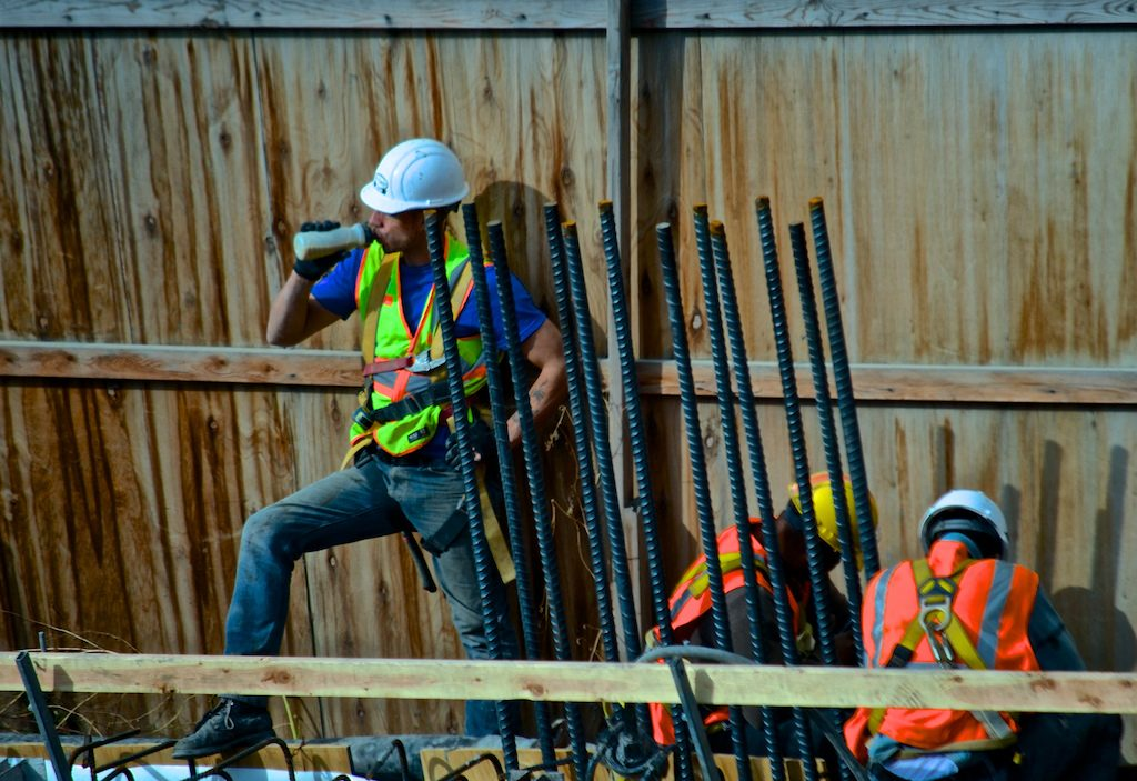 NYC construction workers