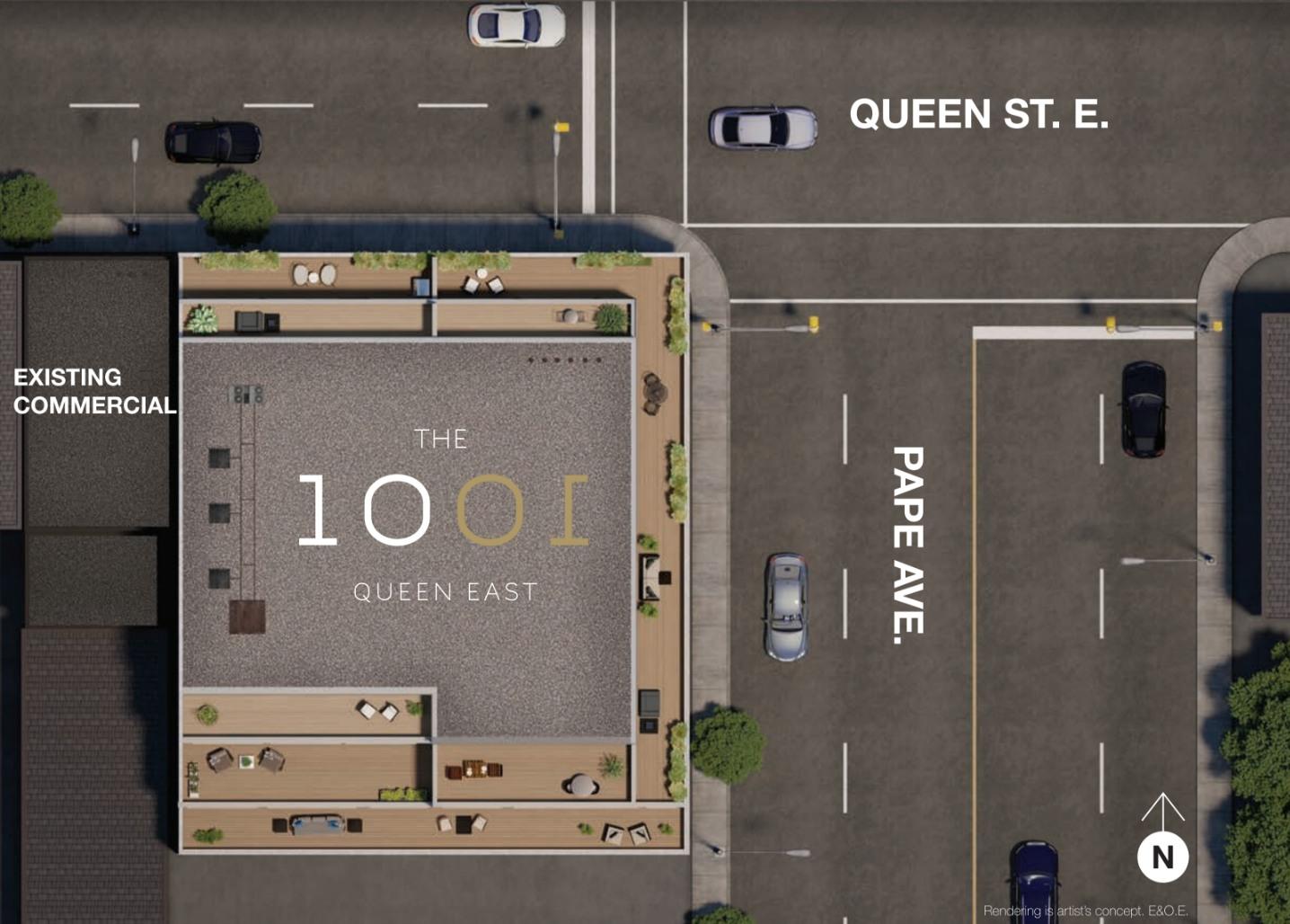 1001QueenEastLofts_Siteplan