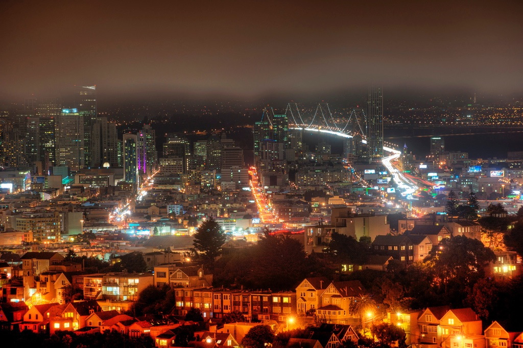 San Francisco_downtown at night