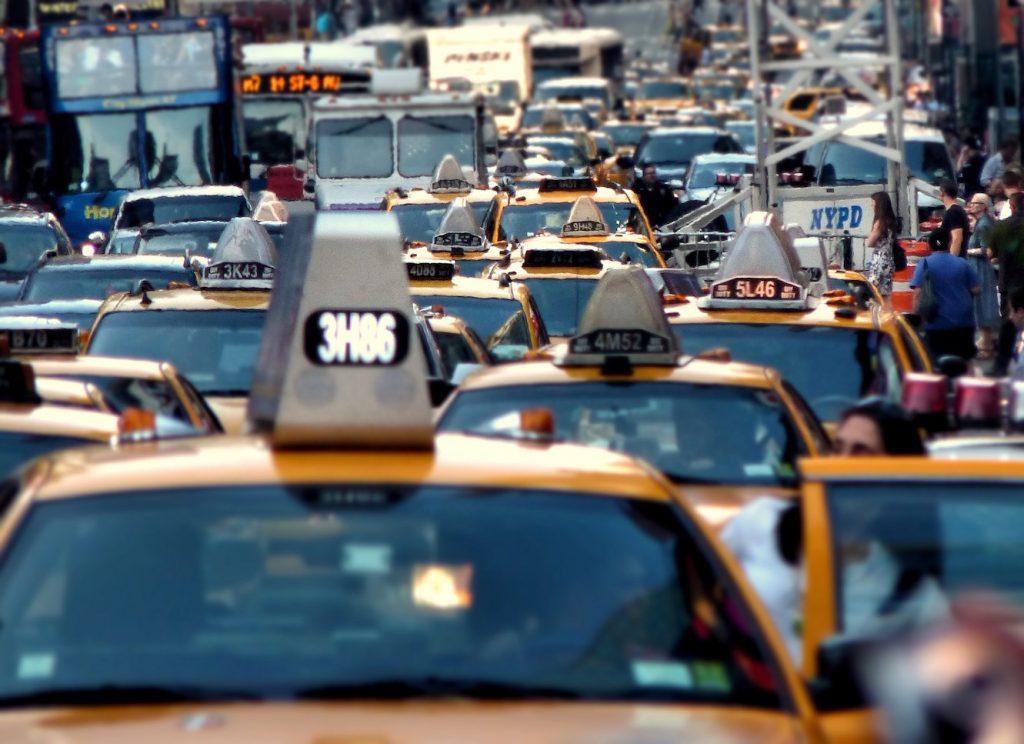 NYC traffic Times Square Manhattan