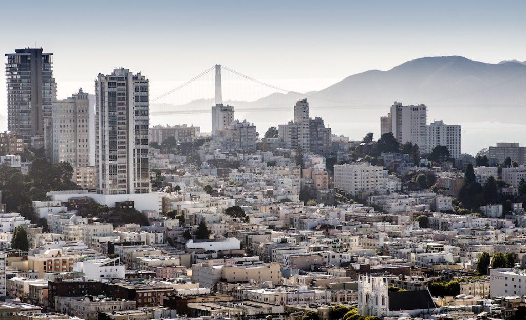 San Francisco CA bay area downtown