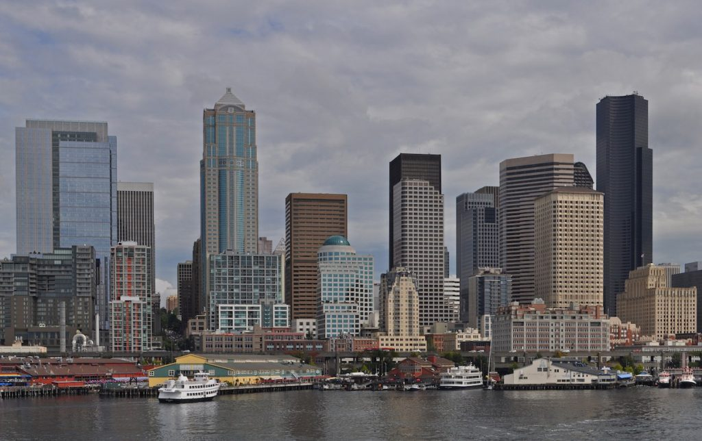 Seattle WA downtown ferry