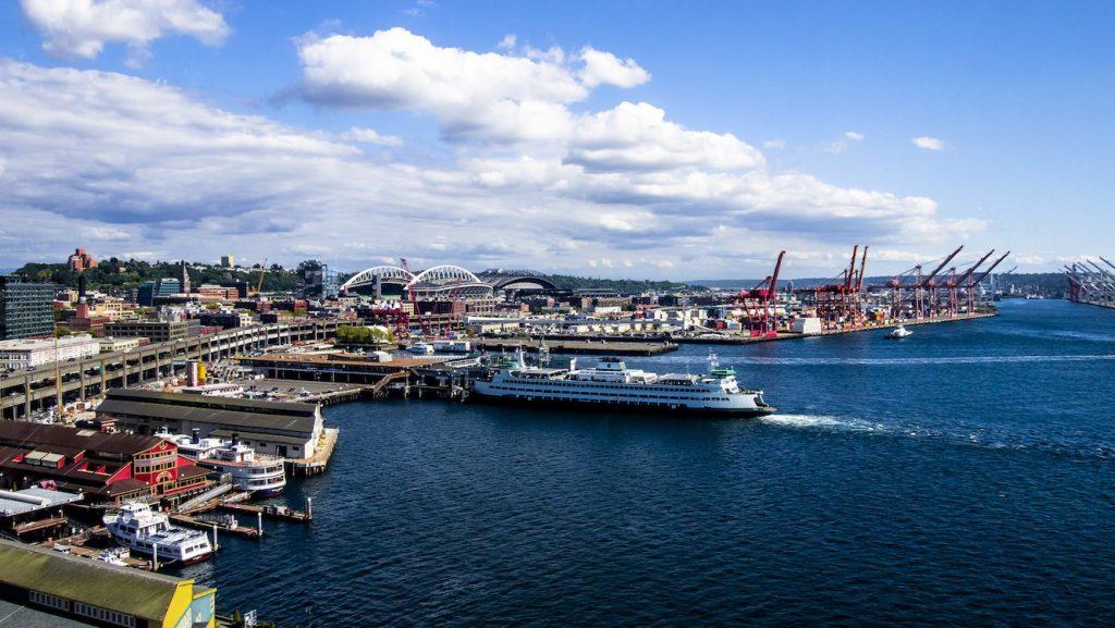 Seattle downtown skyline Washington