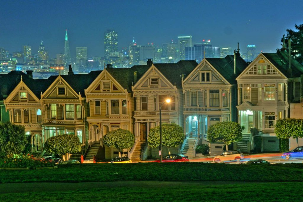 San Francisco Bay Area painted ladies