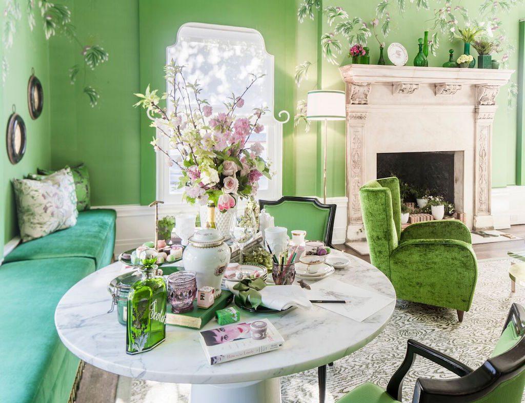 emerald dining area