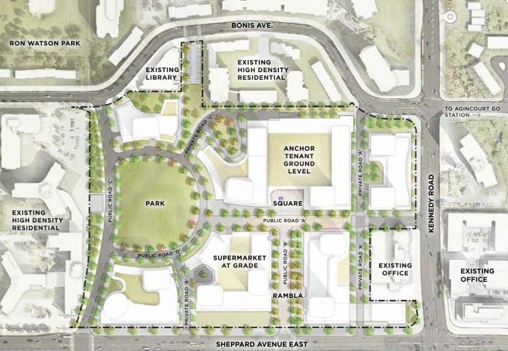 Agincourt Mall_Revelopment_Map