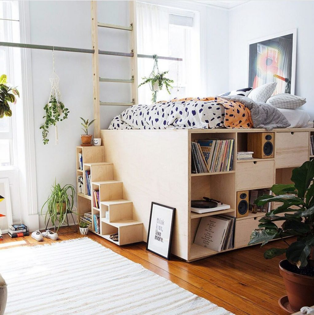 Build Or Buy A Loft Bed To Squeeze More Function Out Of Your Sleeping Space.