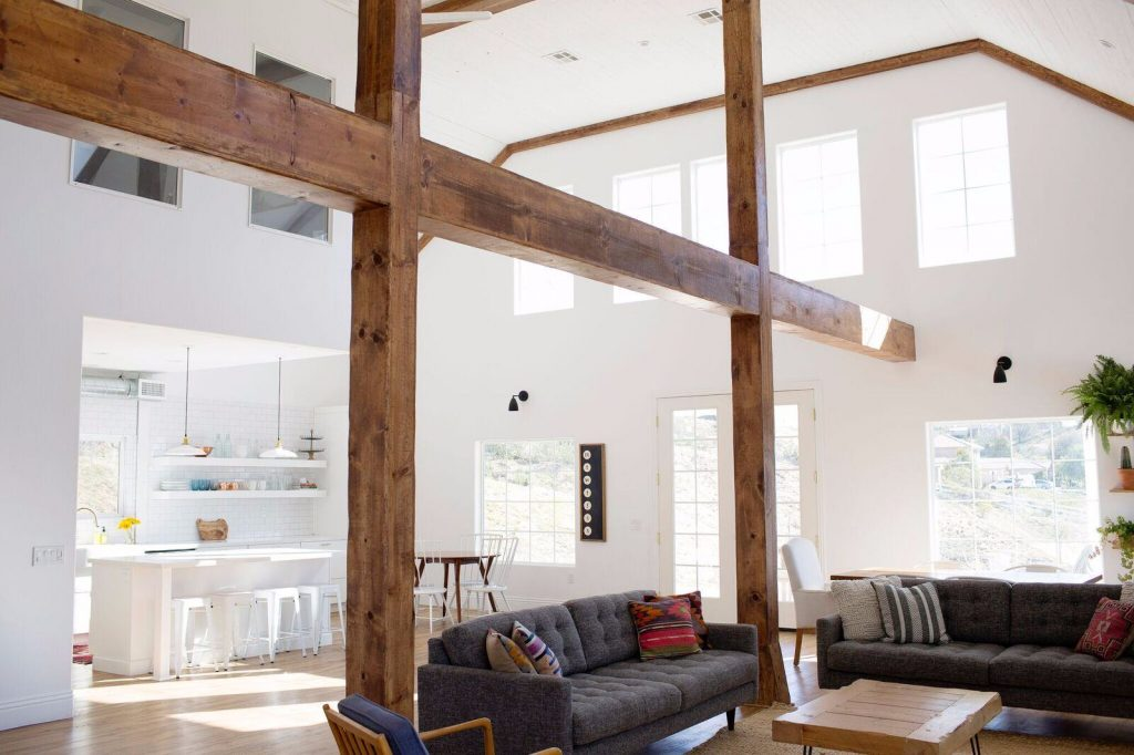 This Temecula, California Conversion Whose Design Incorporates The Original  Wood Beams And Posts.