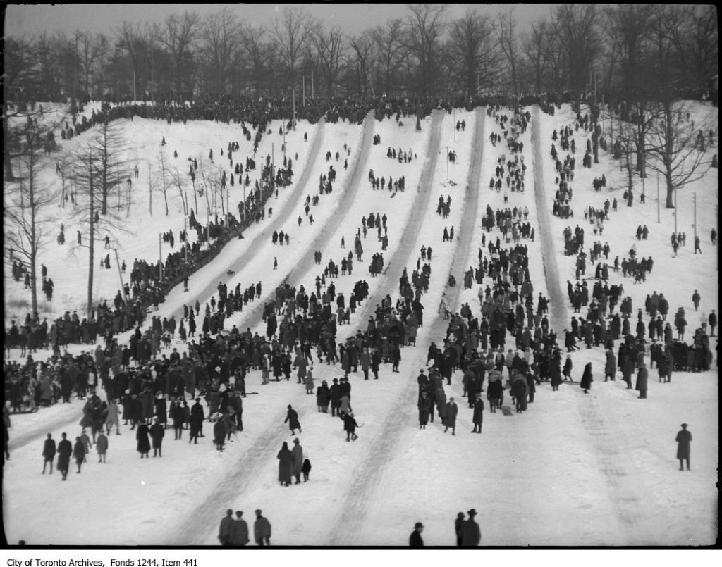 High Park toboggan runs.