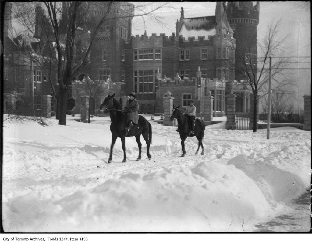 Horseback riders, Casa Loma. - [ca. 1936]