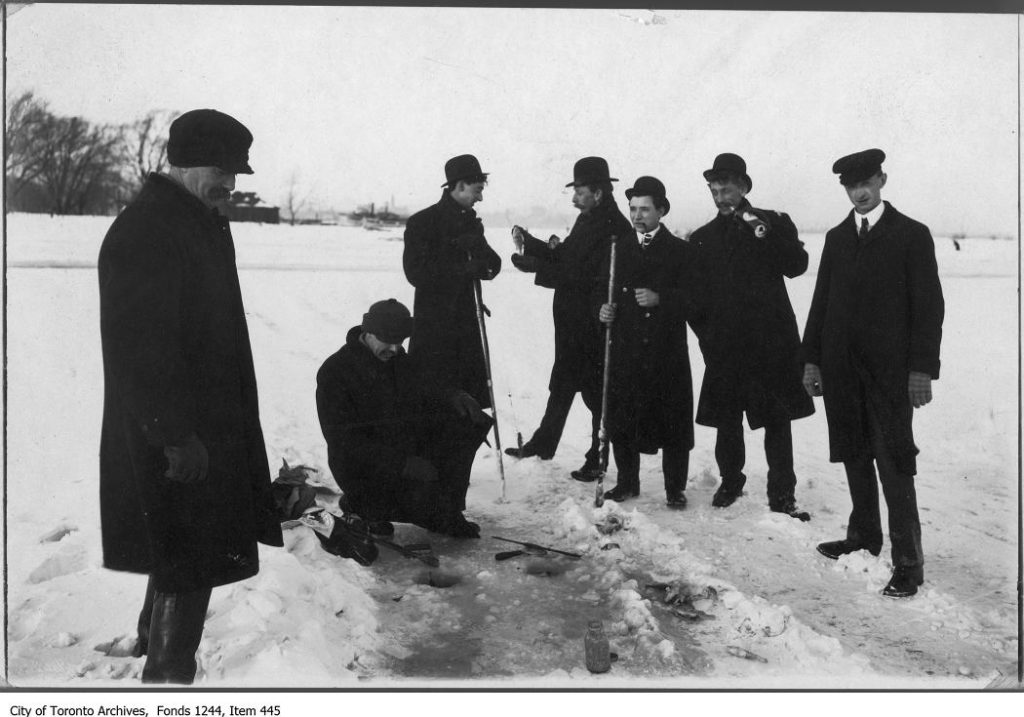 Ice fishing, Centre Island.