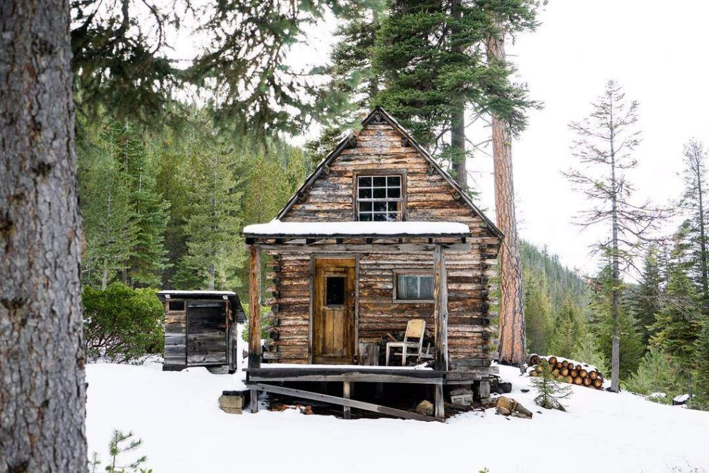 This Rustic Cabin With A Matching Outhouse In The Pacific Northwest