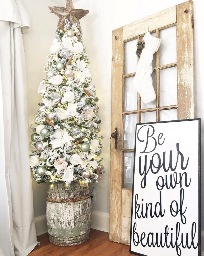 25 rustic farmhouse holiday decorating ideas