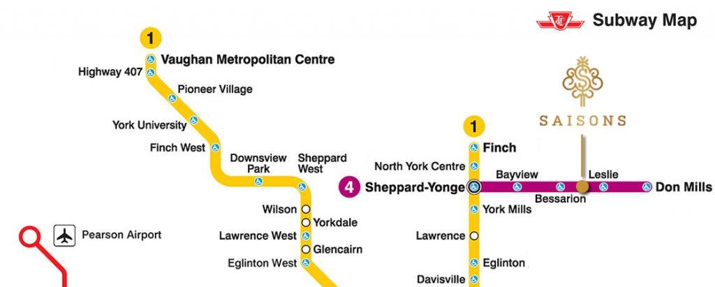 saisons subway map