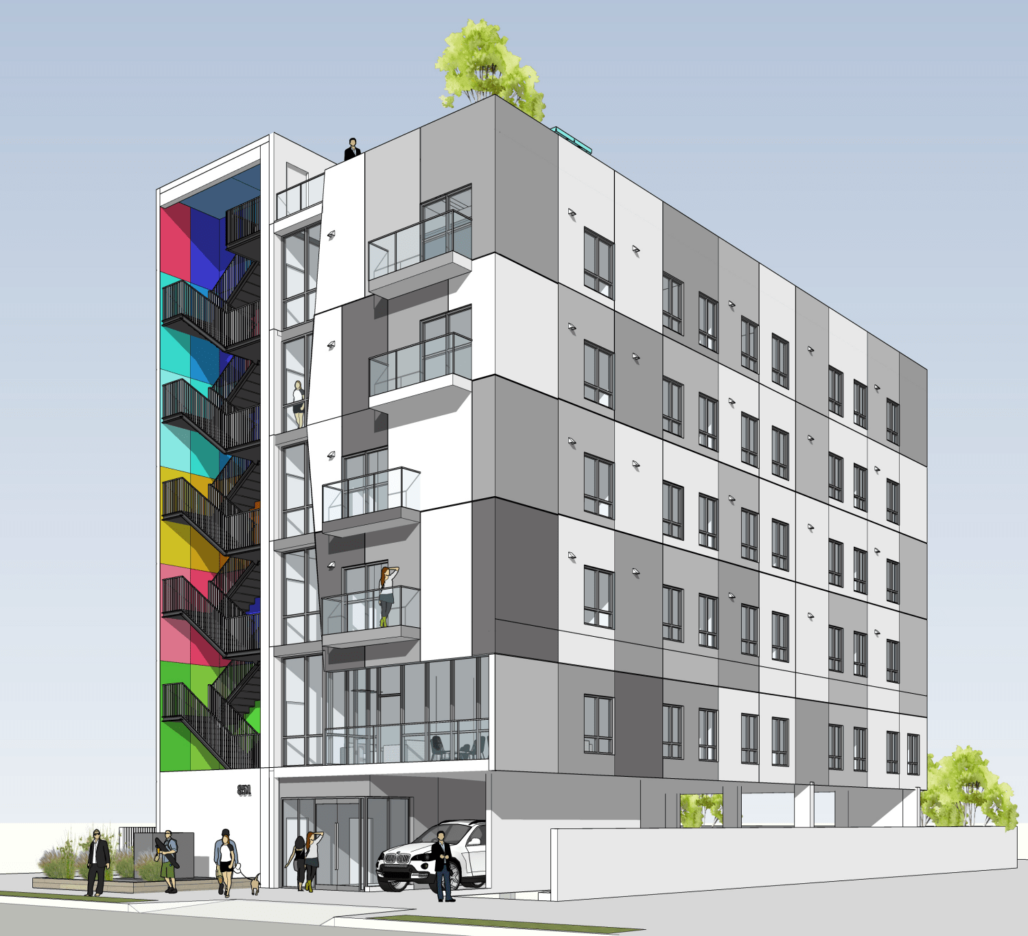 Colorful 33-unit Apartment Building Proposed In Mid-Wilshire