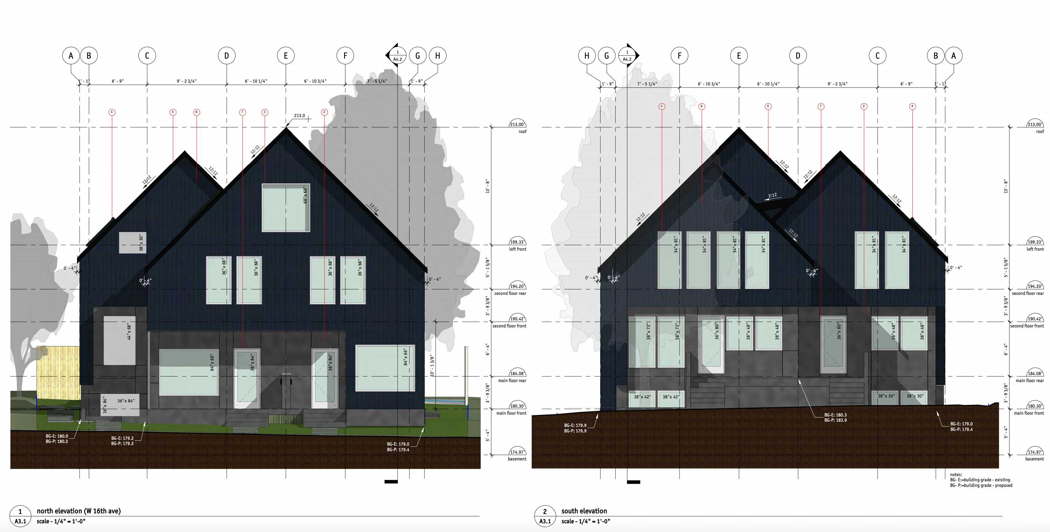 344 West 16th Avenue_North_South_Elevation