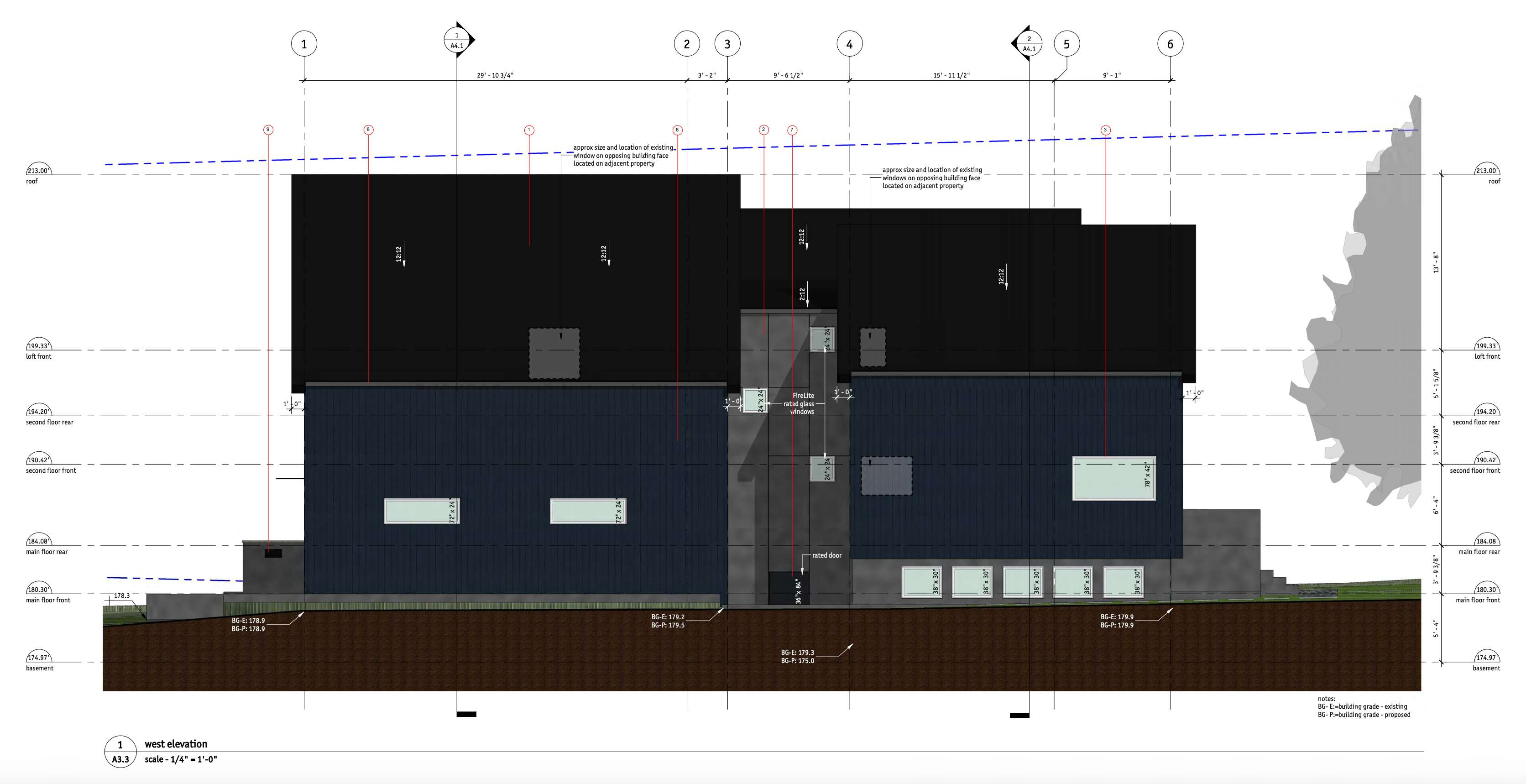 344 West 16th Avenue_West_Elevation