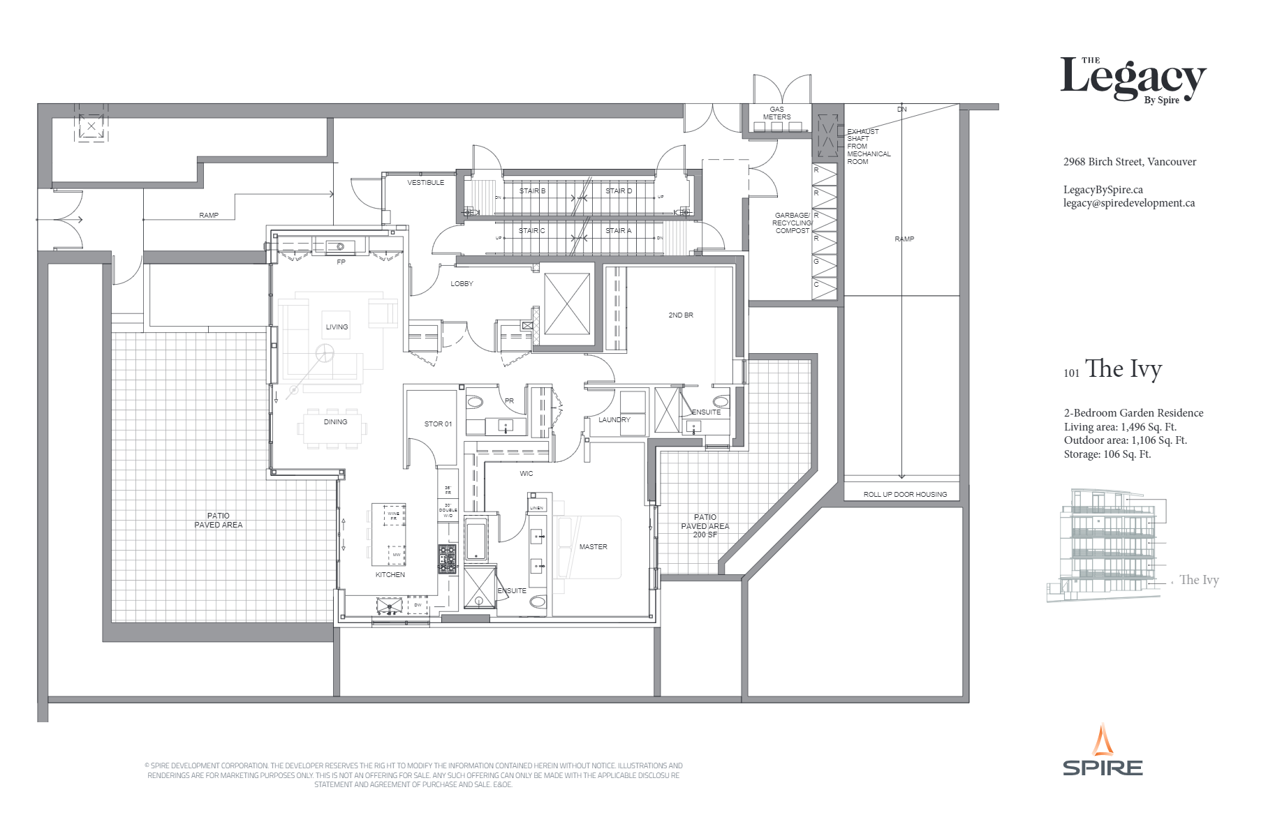 The Legacy by Spire Vancouver_TheIvyFloorplan